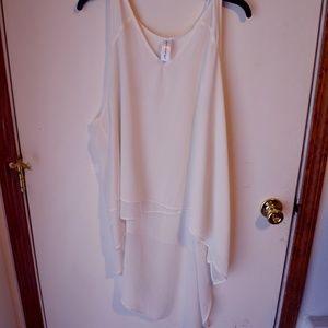 pure energy white draped shirt. 2x
